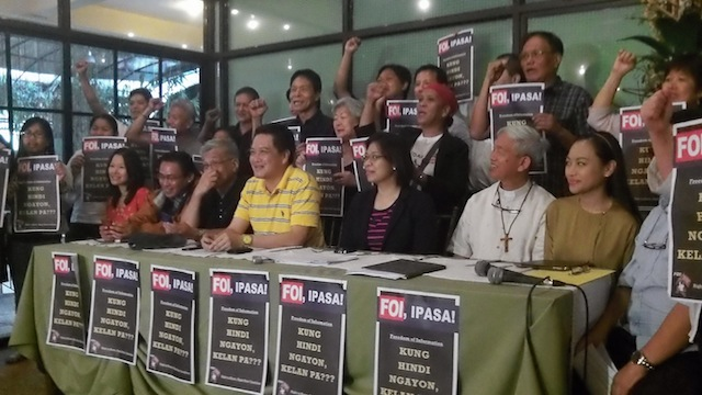 FILE PHOTO. Advocates give the FOI one more push.