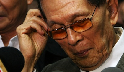 TAKING FULL RESPONSIBILITY. Senate President Juan Ponce Enrile (Photo by Emil Sarmiento)