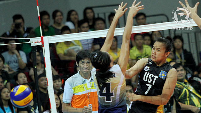 Maika Ortiz came alive as UST got back at NU. Photo by Josh Albelda