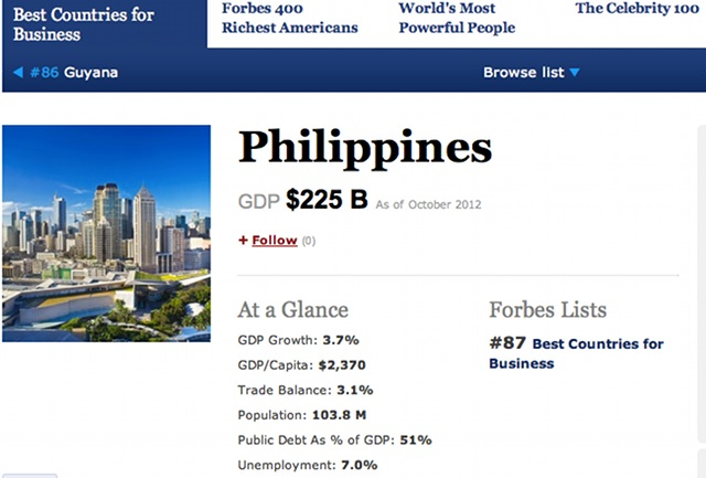 ONE OF WORLD'S BEST. Screenshot of page from www.forbes.com