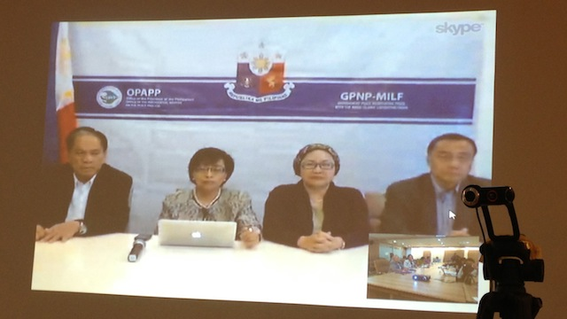 GAINS. The government peace panel holds a video conference from Kuala Lumpur, Malaysia after the 35th round of peace talks.