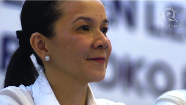 Grace Poe, daughter of action star Fernando Poe Jr., at the Bayan endorsement press conference. Photo by Dennese Victoria 8 Nov 2012.