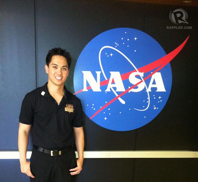 Gregory Galgana Villar III beside the NASA logo. Photo courtesy of Villar.