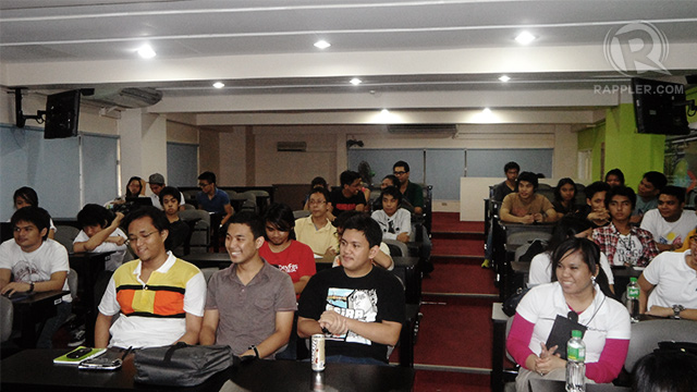 FIRST CLASS. Game developers and students converge for the first event of Game On! Philippines 2012.