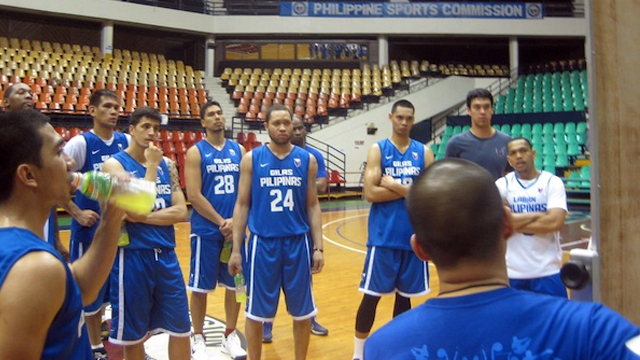 The Gilas crew listens to instructions in Day 1 of their practice. Photo by Enzo Flojo