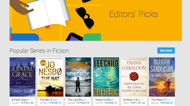 Google Play book store heads to PH, 8 more countries