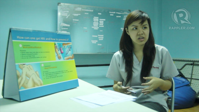 SEXUAL EDUCATION Counsellors provide pre and post counseling during HIV testing. Photo by Franz Lopez