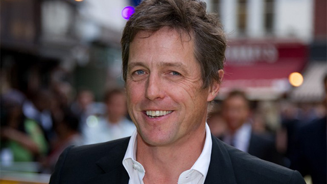 "TWITTER ANNOUNCEMENT. British actor Hugh Grant says he is ""thrilled"" to become a father again, reportedly with Chinese actress Tinglan Hong, but urges the press to leave his family in peace. AFP PHOTO / LEON NEAL"