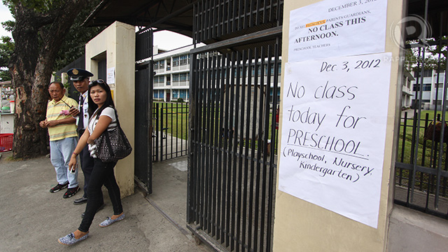 Ateneo de Davao University has declared suspension of classes from kindergarten to high school. Photo by Karlos Manlupig.