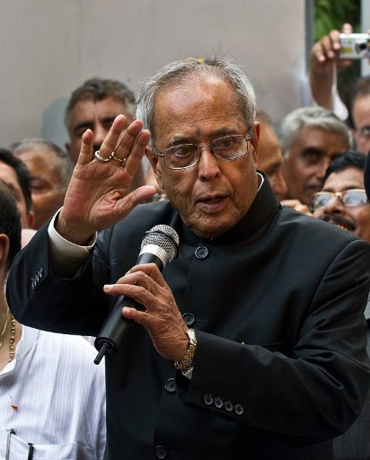 PRESIDENT-ELECT. Former finance minister Pranab Mukherjee was elected Indian president on July 22 after votes from national and state lawmakers were counted in the race for the mainly ceremonial post. AFP photo