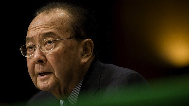 GOODBYE. Photo dated January 14, 2009 shows US Democratic Senator from Hawaii Daniel Inouye during a hearing on Capitol Hill in Washington. Inouye died on December 17, 2012 at the age of 88, according to media reports. AFP PHOTO/FILES/Jim WATSON