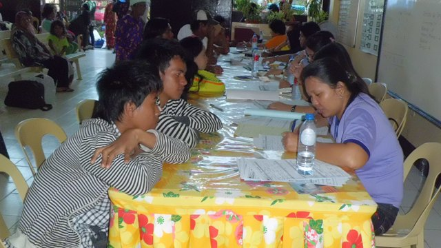 'INTERVIEW': DSWD processing center in Mampang, Zamboanga City (DSWD photo)