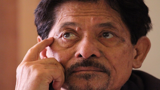 NUR MISUARI. Back from Cairo, MNLF Nur Misuari accuses the government of conspiracy with Malaysia. Photo by Jedwin Llobrera