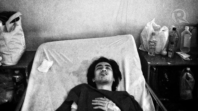 JepJep Baylon in his hospital bed. Photo by Carlo Gabuco