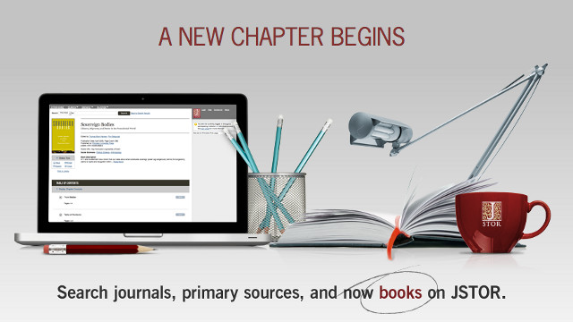 FREE JOURNALS. JSTOR offers free, limited access to a subset of its library. Screen shot from JSTOR.org.
