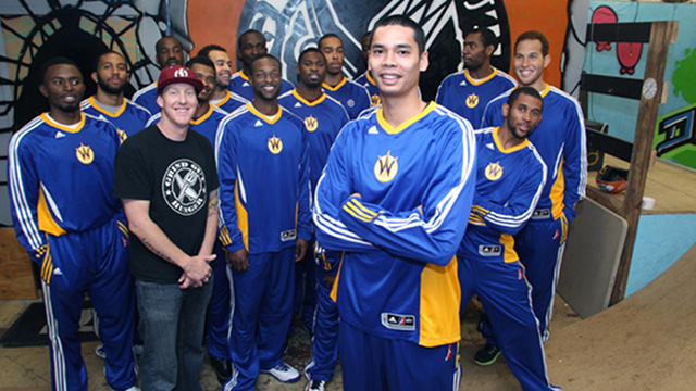 CHASING A DREAM. Japeth Aguilar among fellow players trying out for a spot in the Golden State Warriors' D-League affiliate, the Santa Cruz Warriors. Photo from Hernando Planells' blog.