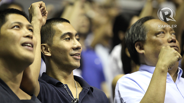 Former Ateneo players Enrico Villanueva and LA Tenorio. Photo by Josh Albelda.