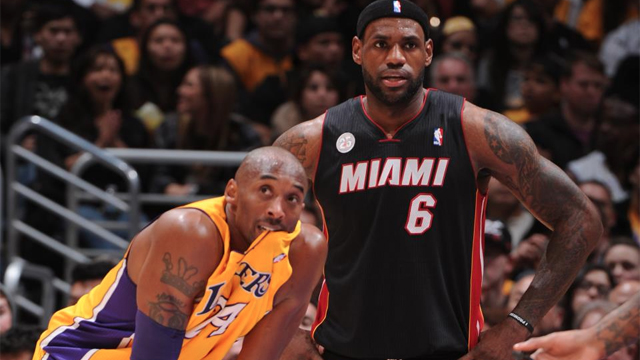 LeBron got the better of Kobe and the Lakers again. Photo from NBA Facebook page