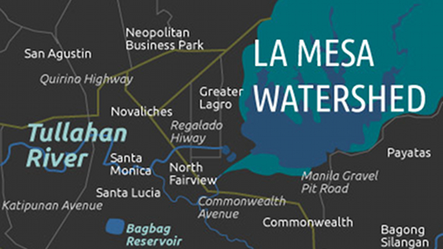 Map of La Mesa Dam affected area. Graphics by Mich Garcia