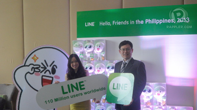 LINE LAUNCHES. NHN Corporation's Hyun-bin Kang poses for the cameras on the launch of LINE in the country.