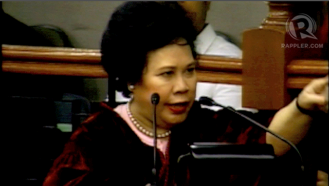 FIRES OF HELL. Sen. Miriam Defensor Santiago says Fr. Catelino Arevalo should not meddle in politics. 