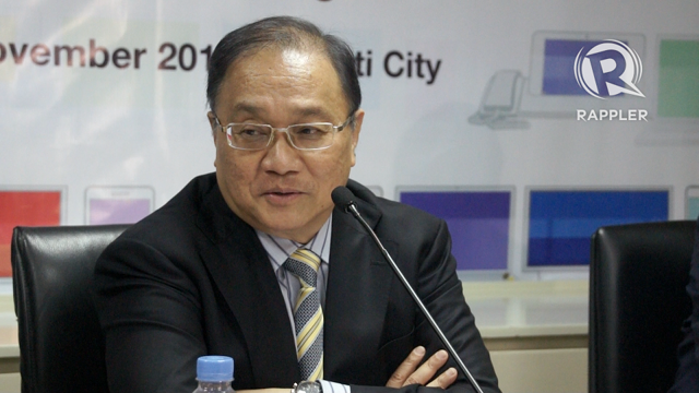 STRATEGY. PLDT chairman Manuel V. Pangilinan discusses the business strategy for this telecommunications at a briefing announcing the group's 3rd quarter financial results on November 6, 2012. Photo by Katherine Visconti.