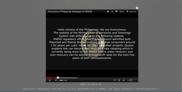 "A video message from ""AnonymousButuan."" Screen cap taken 2:02pm, September 2, 2012."