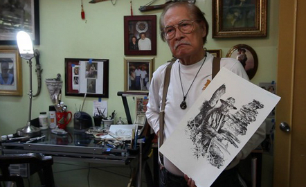 LIVE ON FOREVER. Mang Tony will live on forever in the hearts of comic book fans. We salute you for raising the flag for Filipino comics artists! Photo from robot6.comicbookresources.com