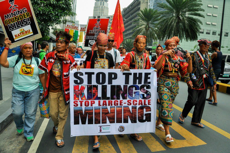 JOURNEY FOR JUSTICE. Indigenous peoples from Mindanao marched in Manila in observance of the International Human Rights Day. Photo from Manilakbayan Facebook page