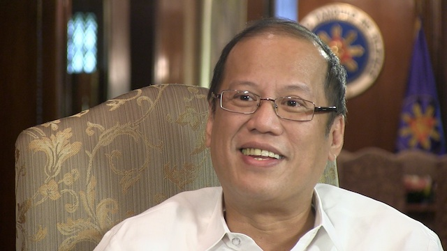 Philippine President Benigno Aquino III during an interview with Rappler, October 17, 2012.
