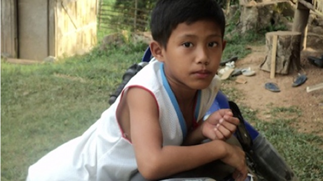 BIG LOSS. Jordan, 11-year-old son of a tribal chieftain in Zamboanga del Sur, is a big loss to the family and community. Photo by Vicky Cajandig