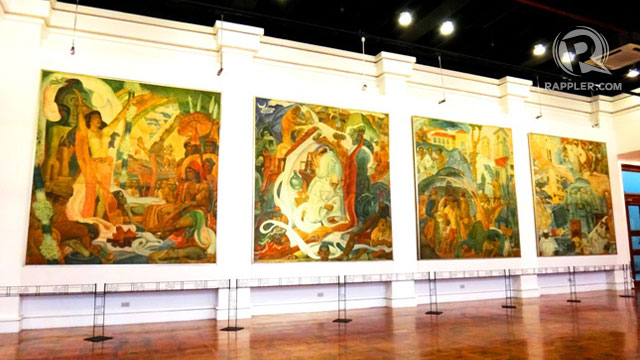LARGE-SCALE. These paintings by Carlos 'Botong' Francisco portraying the progress of Philippine medicine were placed in one of the museums new galleries
