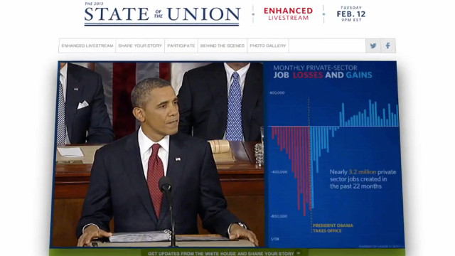 STATE OF THE UNION. The White House discusses its plans for the State of the Union Address. Screen Shot from YouTube.