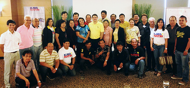 Participants with Senator Teofisto Guingona III at the end of the three-day conference