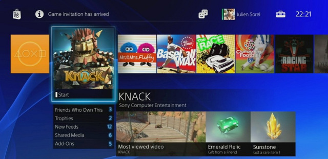 PS4 STORE. Sony shows off what the new PlayStation Store looks like. Screen shot from livestream.
