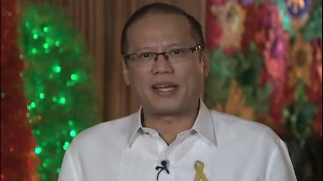 CHRISTMAS MESSAGE. The President delivers his yuletide greetings to Filipinos here and abroad through video. Screen grab from YouTube.