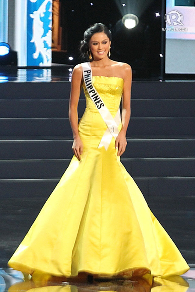 RADIANT IN YELLOW. Miss Philippines Ariella Arida in her Alfredo Barazza evening gown. All photos for Rappler by Jory Rivera/OPMB