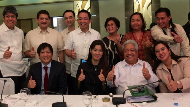 MISSION ACCOMPLISHED. Members of the RH bill bicam committee signal their approval of the measure. Photo from @OfficialSenPia