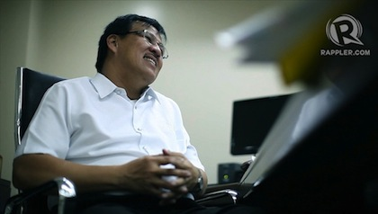 Secretary Jesse Robredo at a 2012 interview with Rappler. Photo by John Javellana.