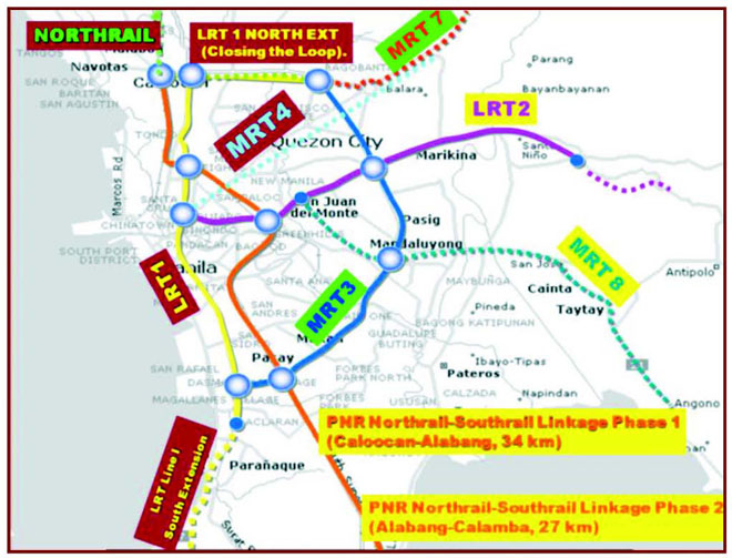 Rail projects in Metro Manila. Photo by PPP Center