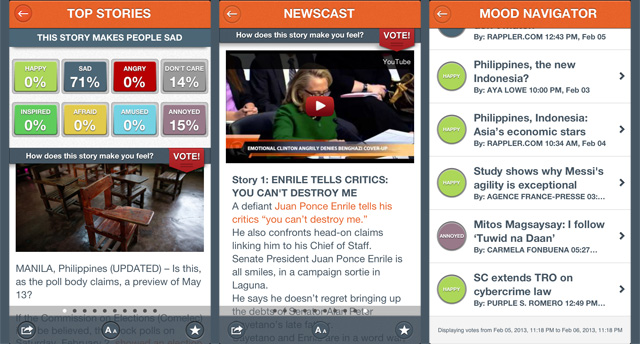 RAPPLER APP: Vote on the mood meter, watch our newscast, crowdsource the mood of the day