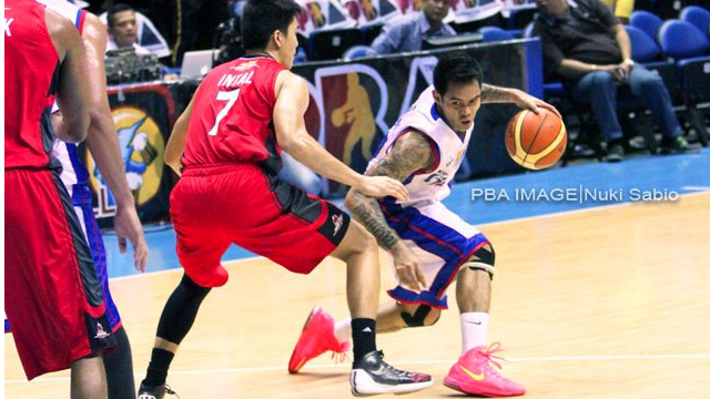 LOCAL SPARK. Tubid ably supported import Renaldo Balkman in their win over Barako. Photo by Nuki Sabio/PBA Images
