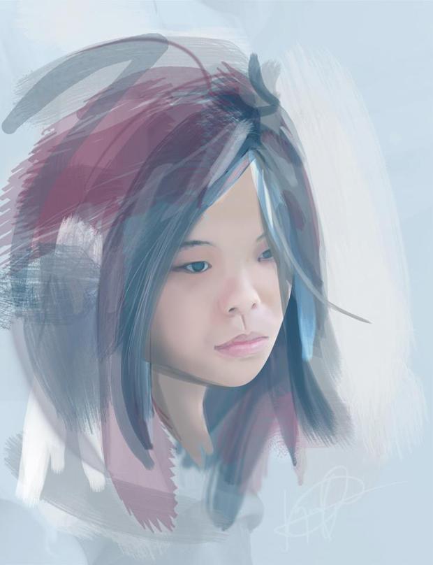 SELF-PORTRAIT. Jaymee's love for anime spills over her love for art.
