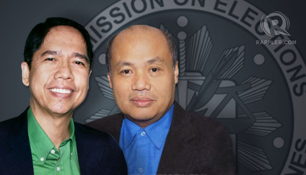 LEAVING COMELEC. Commissioners Rene Sarmiento (left) and Armando Velasco will leave the poll body in February after a non-renewable 7-year term. Graphics by Matt Hebrona