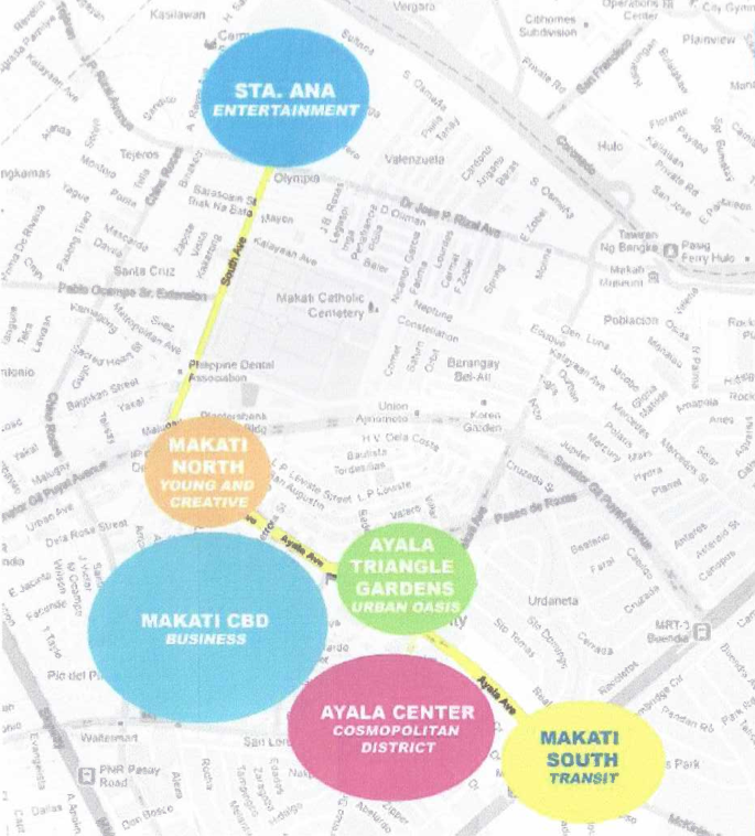 NEW MAKATI. Ayala Land's P60 billion revitalization will create 6 different districts in Makati.