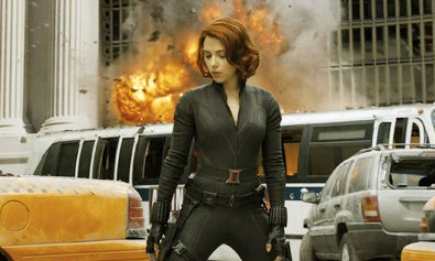 SEXY SUPER HEROINE. Scarlett Johansson plays Natasha Romanova aka The Black Widow