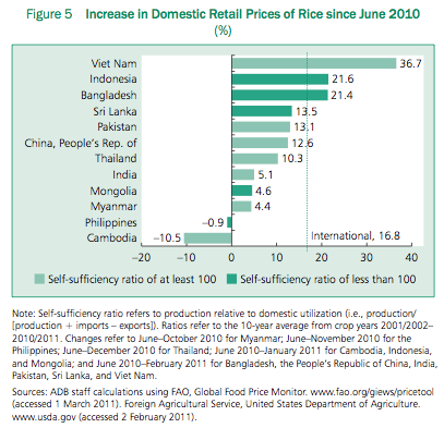 Screenshot from the Asian Development Bank's 'Global Food and Price Inflation and Developing Asia' report.