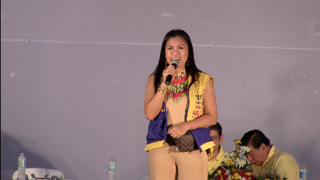 REPRESENTING KOKO. Koko Pimentel's cousin Astra represents the re-electionist in Bukidnon, the home of his biggest rival Miguel Zubiri. Photo by Natashya Gutierrez.