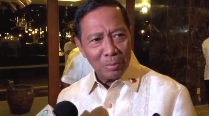 BEWARE OF JUDICIAL ACTIVISM. Vice President Jejomar Binay speaks to the media before his speech in Makati. Photo by Carlos Santamaria