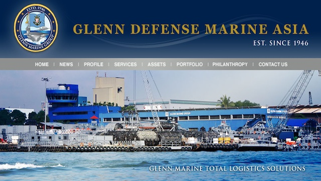 LOGISTICS SOLUTIONS. Glenn Defense Marine Asia specializes in marine and offshore logistics, maritime security and force protection and operates in 27 Asia-Pacific countries. Screen grab from the company's website www.glenndefensemarine.com